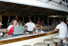 damnoni bay hotel - bar night